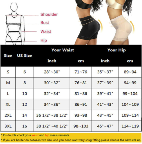 How to choose butt lifter size