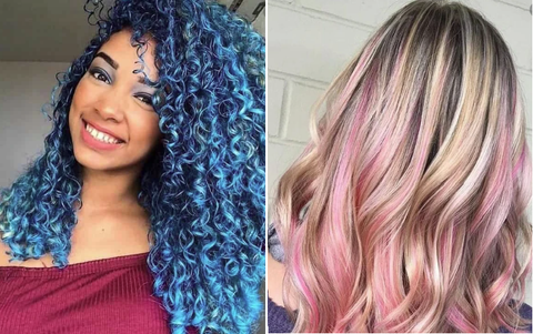 silky hair color curly hair color
