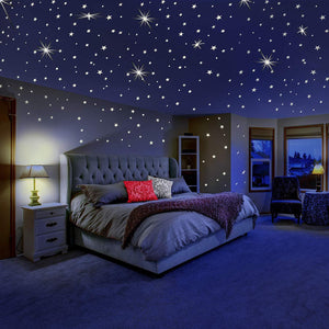 Frigatebird™ 3D Stars Glow Kids Wall Sticker - Pack of 100-Storefyi