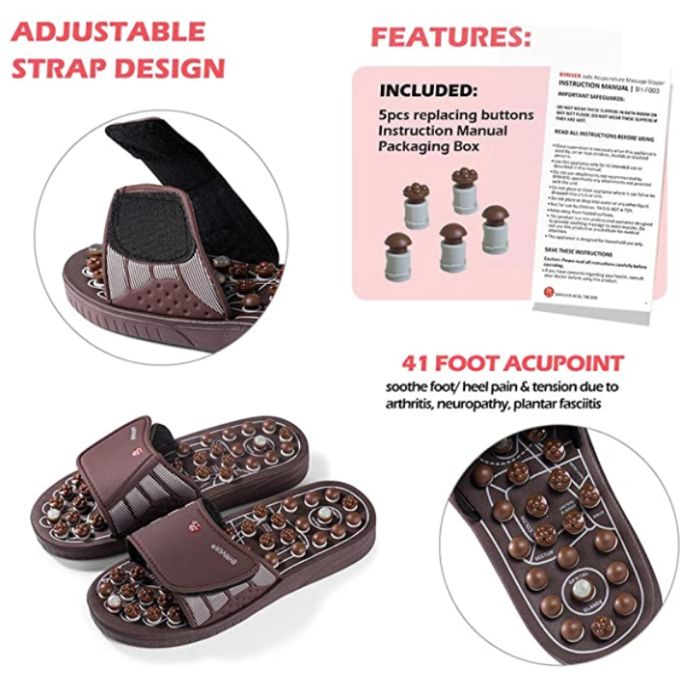 🦶 Byriver Foot Massage Slippers