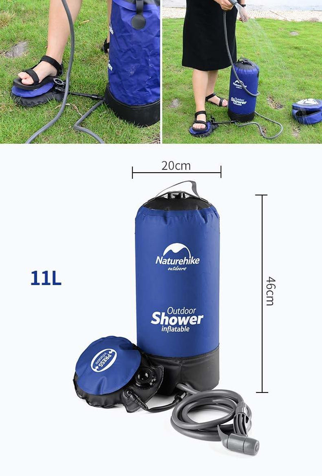 Nuturehike 11L Portable Pressure Outdoor Camping Shower Kit