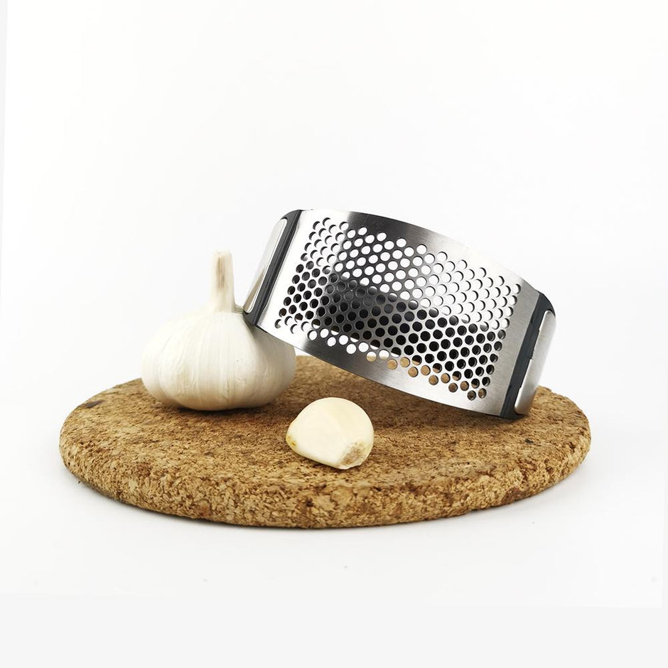 Solid Stainless steel Garlic Press Roller Rocker