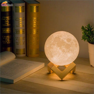Moon Lamps With Wooden Stand