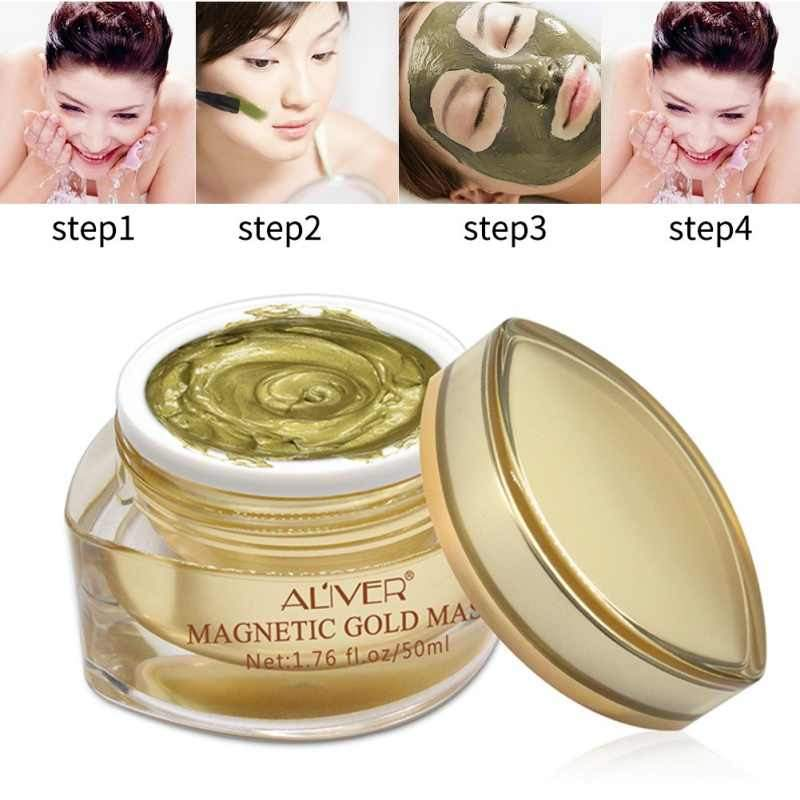 Magnetic Face Gold Mask
