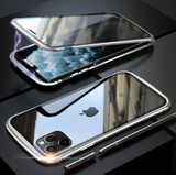 360° Magnetic Anti Peep Glass Case for iPhone