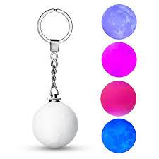 Moon Light Key Chain | Moon Lights Lamp | Customized 3d Moonlight