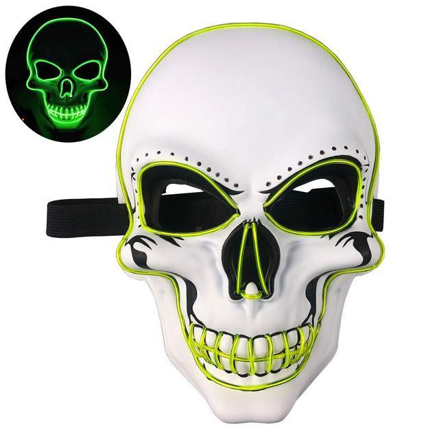 Halloween Skeleton LED flash Mask