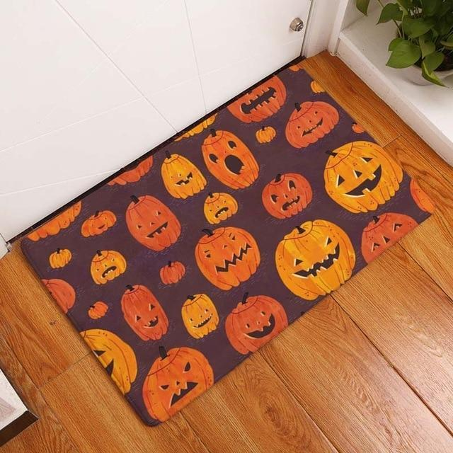 Halloween Skull Cartoon Mat