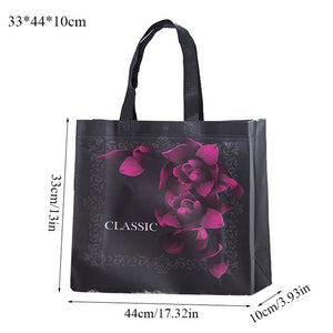 Women Reusable Shopping Bag Large Capacity Canvas  Travel Storage Bags Laser Glitter Female Handbag Grocery Canvas Tote Eco Bag