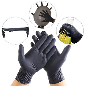 20 Pcs Black Blue Disposable Latex Gloves