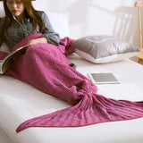 Handmade Soft Mermaid Tail Blanket-Storefyi