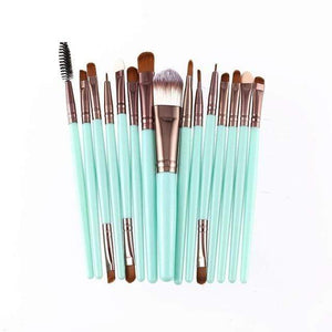 15pcs/set Makeup Brushes Sets Kit Eyelash Lip Foundation Powder Eye Shadow Brow Eyeliner Cosmetic Make Up Brush Beauty Tool-Storefyi