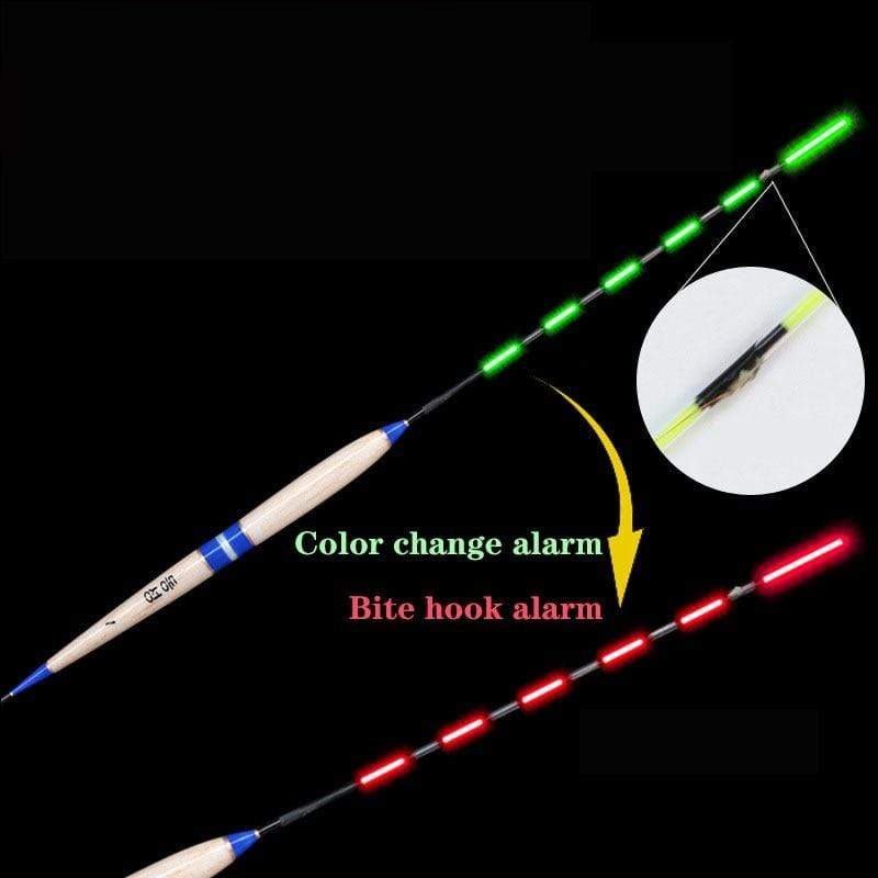 Smart Fishing Float Bite Alarm Fish Bite Bait LED Light Color Change Automatic Night Electronic Changing Buoy Strike Intelligent-Storefyi