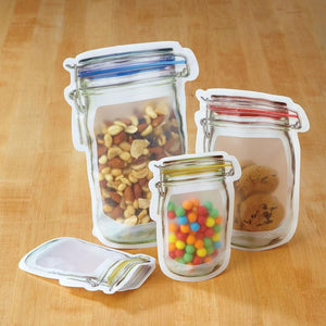 Reusable Zipper Jar Storage bags