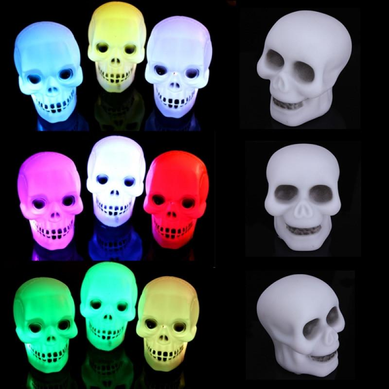 Colourful Skull Head LED Lamp
