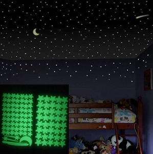 3D Stars Glow Kids Wall Sticker