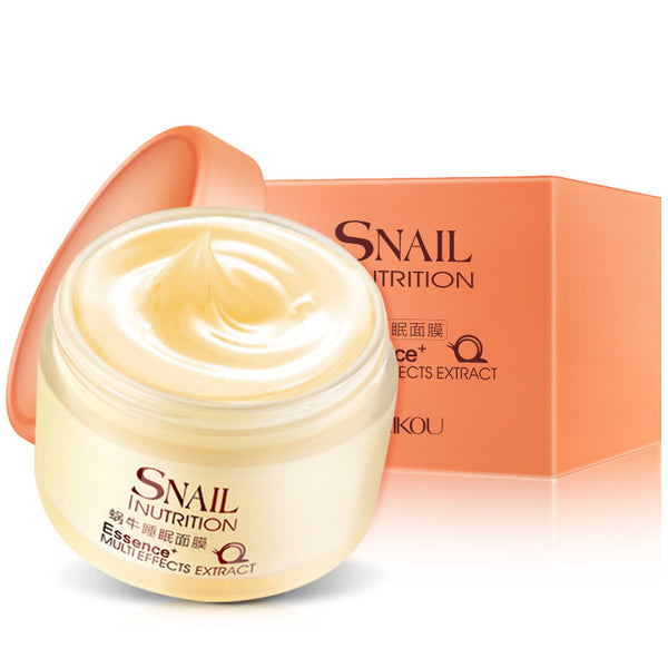 Facial Night Cream New Snail Sleeping Mask Face Skin Care Cream No Wash Whitening Moisturizing Repair Fade Spot H7JP