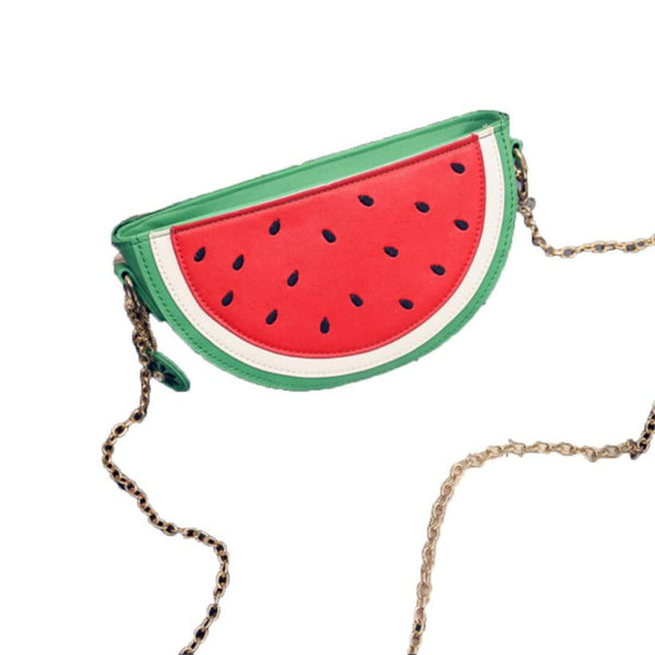 Xiniu women messenger bag Sweet Summer small leather handbag Women Cute Fruit Packet Chain Shoulder Orange Watermelon Bag #5M