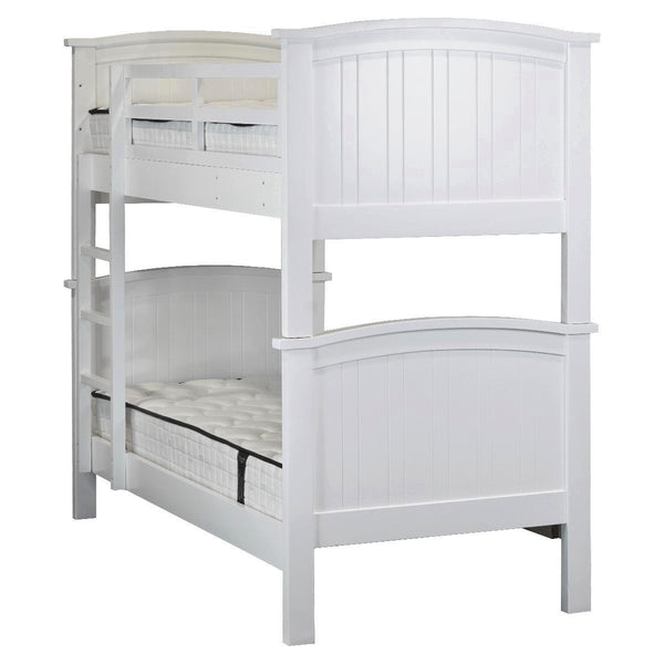 1020# Malaysian Oak Bed Frame (Bunk)  | King-Single | White color