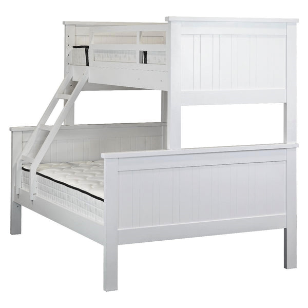 1021# Malaysian Oak Bed Frame (Bunk)  | Single+Double | White color