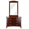 105# Malaysian Oak Dresser&Mirror | 6 Drawer | Dark color