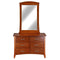 105# Malaysian Oak Dresser&Mirror | 6 Drawer | Light color