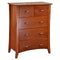 105# Malaysian Oak Tall Boy | 5 Drawer | Light color
