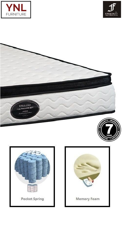Sensation 5cm Memory Foam on Pocket spring Mattress | Model 2002-1M# | Queen size
