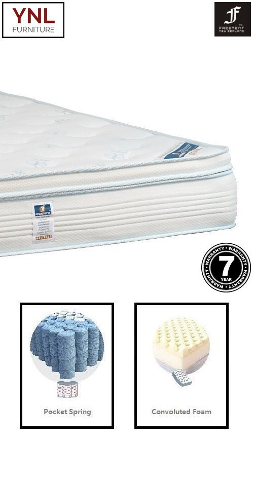 5cm Comfy Pillow-Top on Pocket spring Mattress | Model 2002-1P# | King size