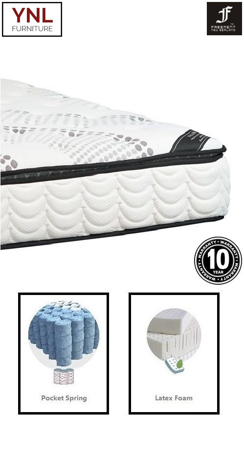 Absolutely Natural 7cm Latex on Pocket spring Mattress | Model 2003-7L# | Queen size
