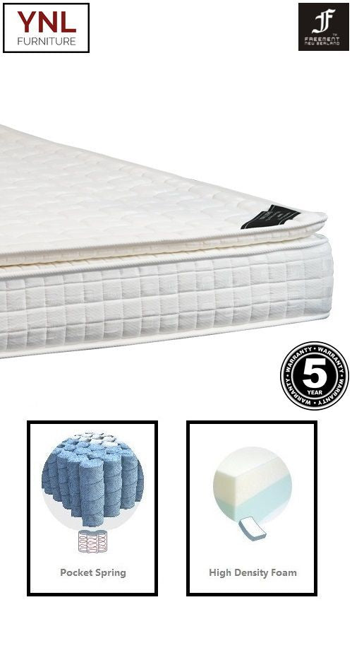 3cm Pillow-Top on Softer Pocket spring Mattress | Model 2003C# | King size