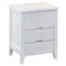 2016# Malaysian Oak Bedside Table | 3 Drawer | White color