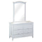 2016# Malaysian Oak Dresser&Mirror | 6 Drawer | White color