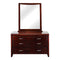 2018# Malaysian Oak Dresser&Mirror | 6 Drawer | Dark color