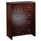2018# Malaysian Oak Tall Boy | 5 Drawer | Dark color