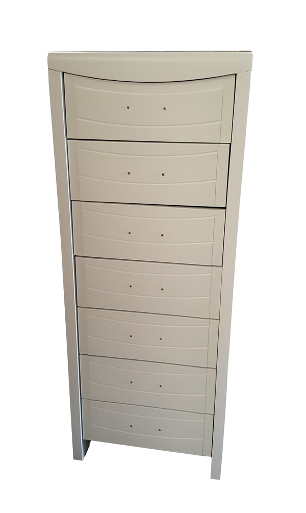 2018# Malaysian Oak Slim Boy | 7 Drawer | White color