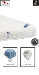 Purely Natural 5cm Latex on Pocket spring Mattress | Model 2020L