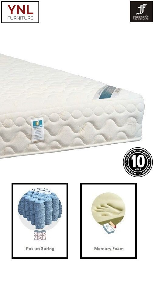 Subsidence 8cm Memory Foam Bread-Shape on Pocket spring Mattress | Model 2021M# | King size