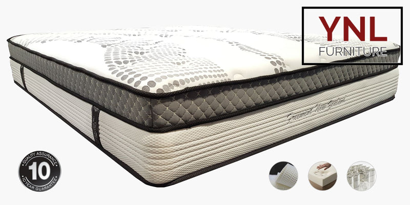 Exclusive Cloud Dual-Layer Pocket spring with Memory and Latex Foam Mattress | Model 2023L+M
