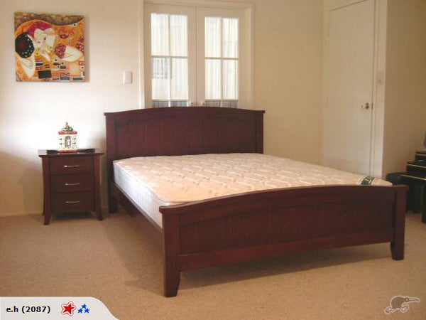 607B# Malaysian Oak Bed Frame | Queen | Dark color