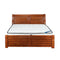 508# Malaysian Oak Bed Frame | King | Light color