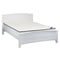 607B# Malaysian Oak Bed Frame | Double | White color