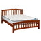 607# Malaysian Oak Bed Frame | Queen | Light color