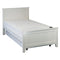 610# Malaysian Oak Bed Frame (High Siderail)  | King-Single | White color