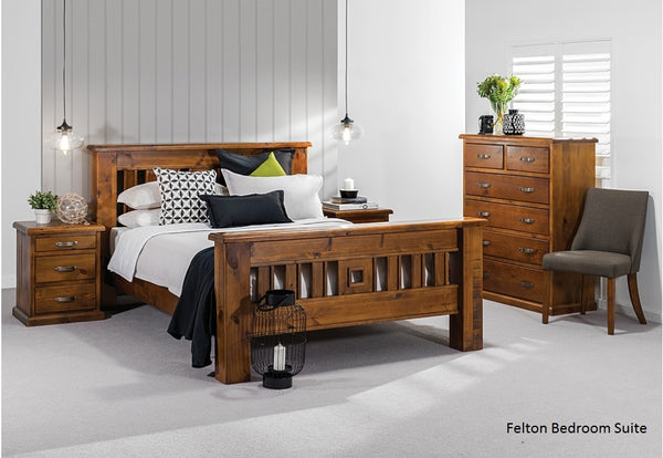 Felton# NZ Pine Bedroom Suite | King | 6-Piece