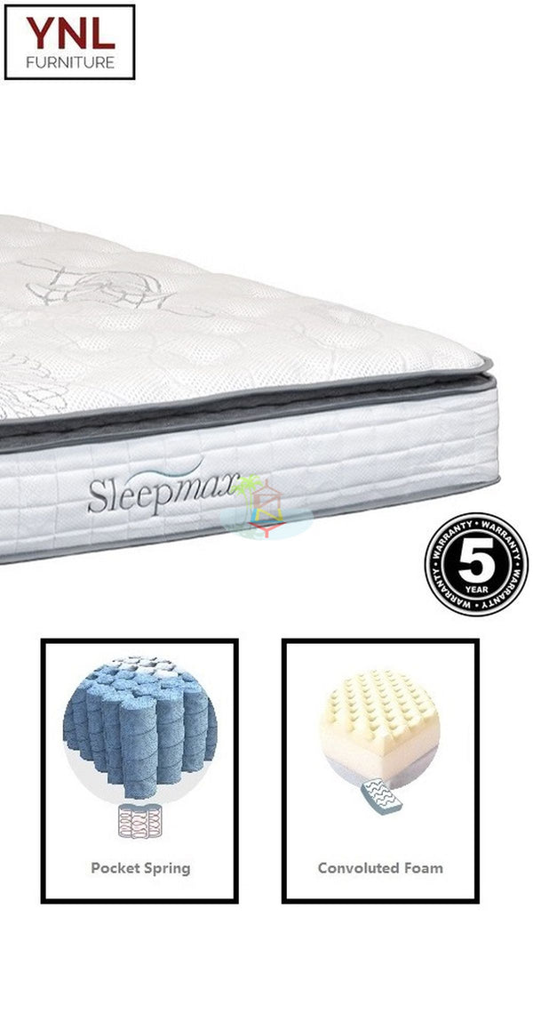 Comfy 5cm Pillow Top  on Pocket spring Mattress | Model Plw Pkt# | Queen size