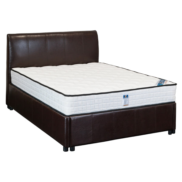 F349# Bed Frame | Double | Dark Brown color