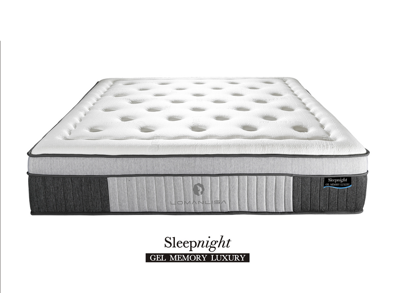 Luxurious 10cm Euro Top on 26cm Tall Pocketed Coil with Gel Memory foam Mattress | Model Lux Gel Euro