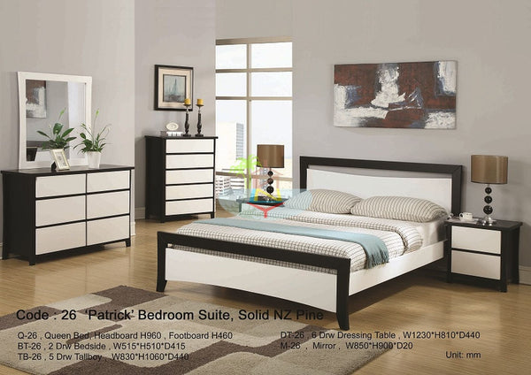 Patrick# NZ Pine Bedroom Suite | Queen