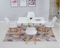 Sonia# Dining Suite | 1.2M Table&4 Chairs | White color